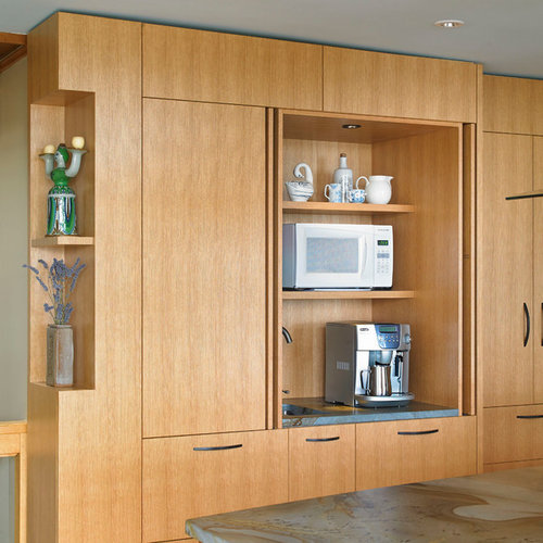 Retractable cabinet doors home design ideas renovations photos - Retractable kitchen cabinet doors ...
