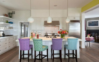 Designers Break the Mold by Mixing and Matching Kitchen Stools
