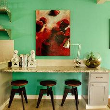 Beach Style Kitchen by Garrison Hullinger Interior Design Inc.
