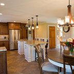 Stacked cabinetry kitchen - Traditional - Kitchen ...