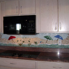 Tropical Kitchen by Designer Glass Mosaics