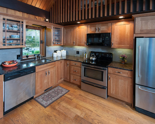 Medium Brown Cabinets Houzz