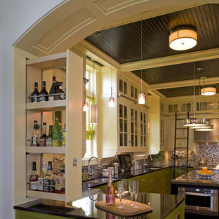 Contemporary kitchen designs - Example of a trendy kitchen design in Other