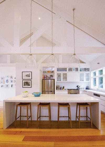 Beach Style Kitchen by DJE Building Design
