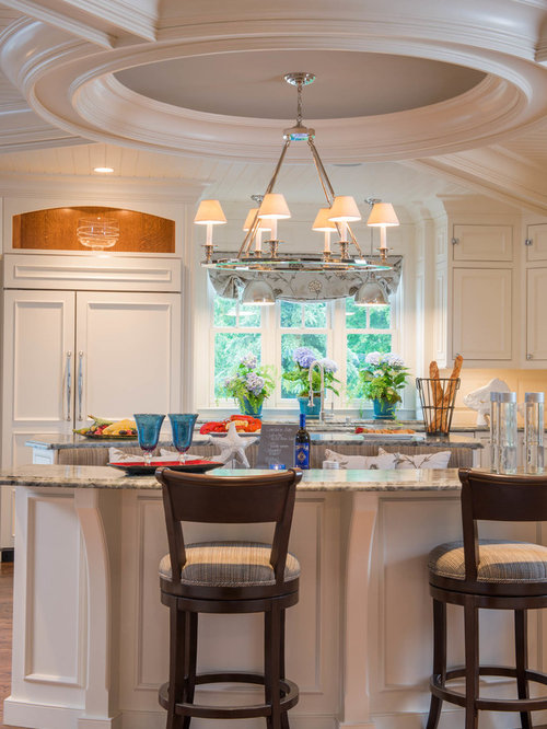 Delicious Kitchens Island For Eight A Luxe White Kitchen