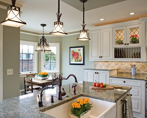 Mid Sized Traditional Eat In Kitchen Photos   Mid Sized Traditional L