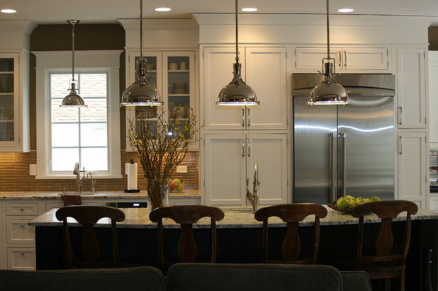 Kitchen Islands Pendant Lights Done Right - Large pendant lights over island