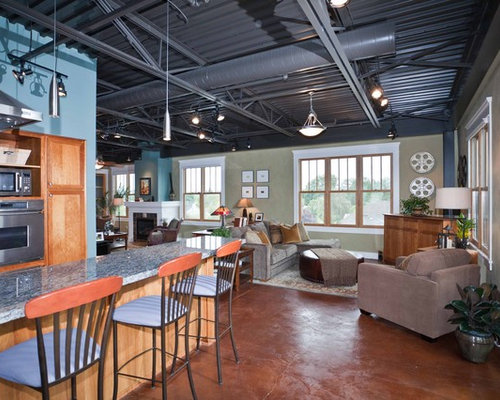 Industrial Ceiling Home Design Ideas Pictures Remodel