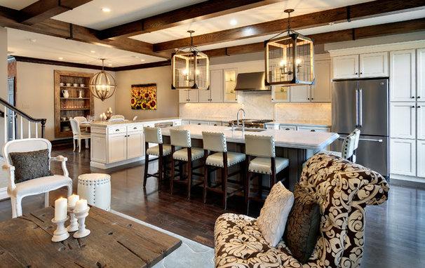 Rustic Kitchen by Semerjian Interiors