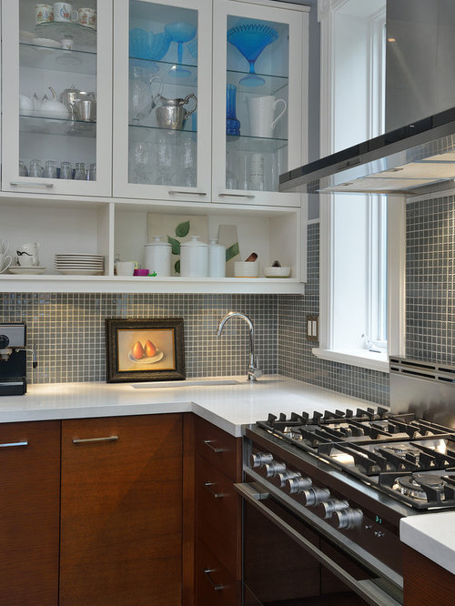 square tile backsplash houzz