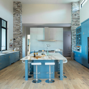 pebble kitchen backsplash large kitchen island ideas houzz 1438