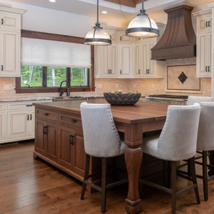 75 Beautiful Rustic Kitchen With Beige Backsplash Pictures ... on