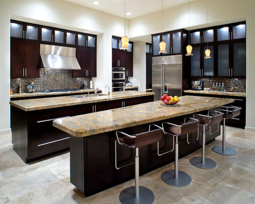 Double Kitchen Island | Houzz