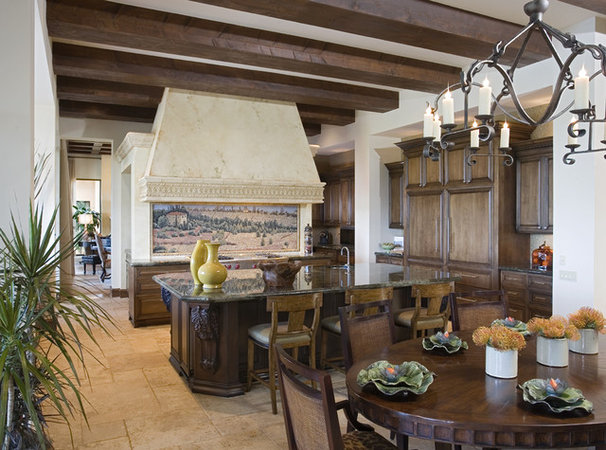 Rustic Kitchen by JAUREGUI Architecture Interiors Construction