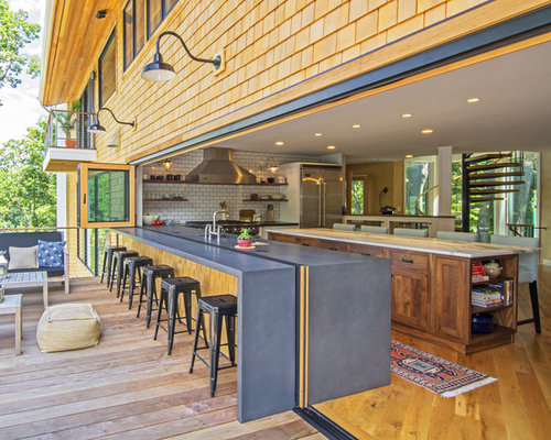 large beach style open concept kitchen designs inspiration for a large beach style l