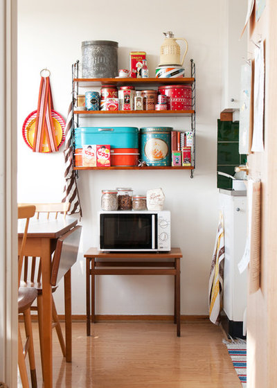 Midcentury Kitchen Shabby Chic-inspirerad Kök