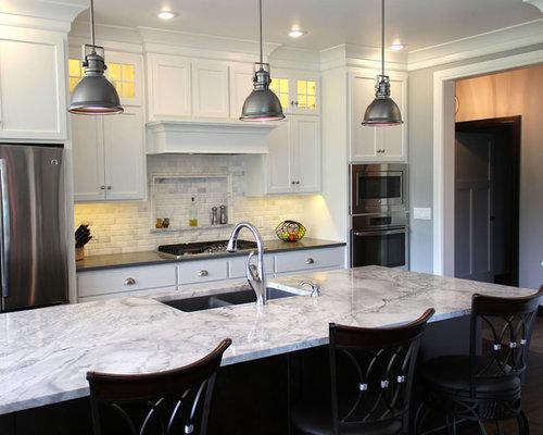 Cucina shabby chic style con top in granito foto e idee per