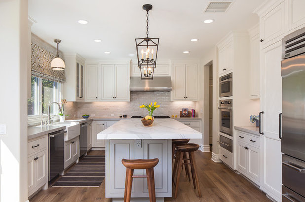 Transitional Kitchen by Osinoff General Contractors