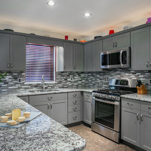 Shake it up with Gray Shaker style and Granite Countertops
