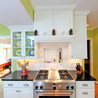 how to install backsplash in kitchen video colonial gold counters with faux brick backsplash 9426