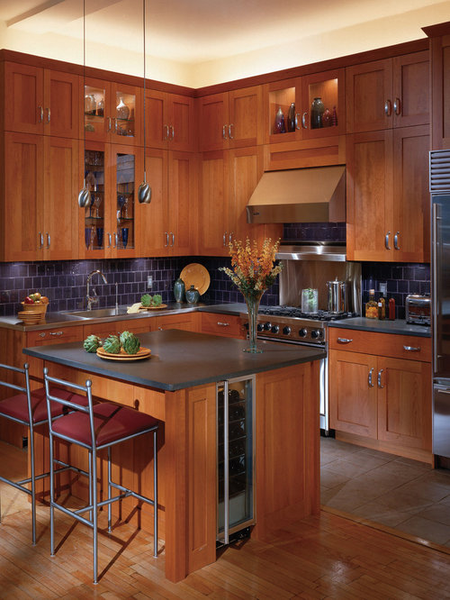 inspiration for a timeless kitchen remodel with stainless steel appliances and blue backsplash