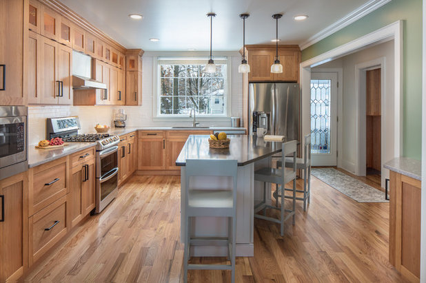 Kitchen Of The Week Cherry Cabinets Bring Warmth In Vermont