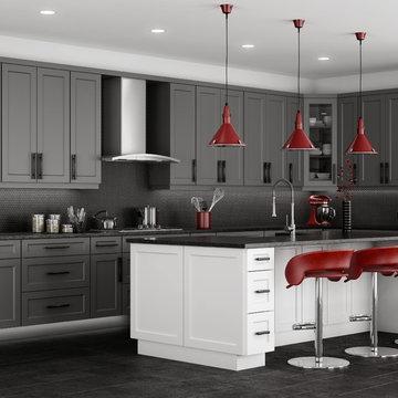 Shaker Grey Kitchen Cabinets