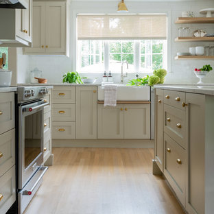 75 Beautiful Kitchen With Beige Cabinets Pictures & Ideas ...