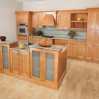 Walnut Contemporary Kitchen - Modern - Kitchen Cabinetry - boston - by Scandia Kitchens Inc.