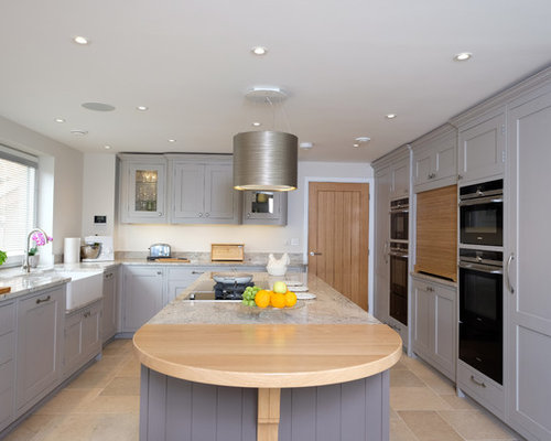 Design Ideas For A Large Traditional U Shaped Open Plan Kitchen In  Hampshire With A