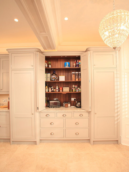 Orange Kitchen Pantry Design Ideas Renovations Photos With Grey Cabinets