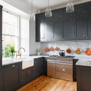Shaker Kitchen in Georgian townhouse