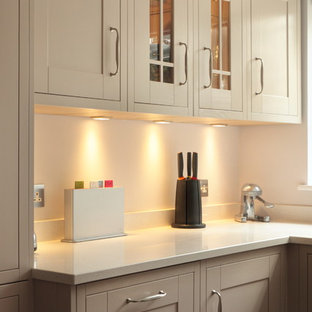 Shaker kitchen with a variety of cabinets