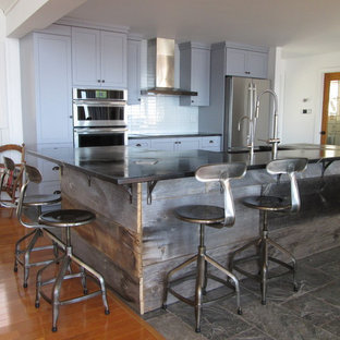 Shaker Kitchen with Soapstone counters and sink