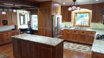 Shaker style Cherry and Walnut kitchen