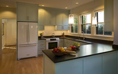 Serene Shade of Blue for a Shaker-Style Kitchen