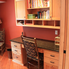 Traditional Home Office by Trinity Construction Services, LLC