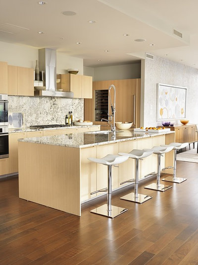 Houzz tour warm modernism way up in the air for Kitchen design consultants