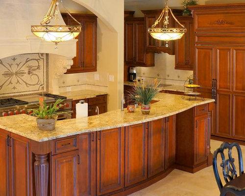 klassische k che mit orangefarbenen schr nken ideen bilder. Black Bedroom Furniture Sets. Home Design Ideas