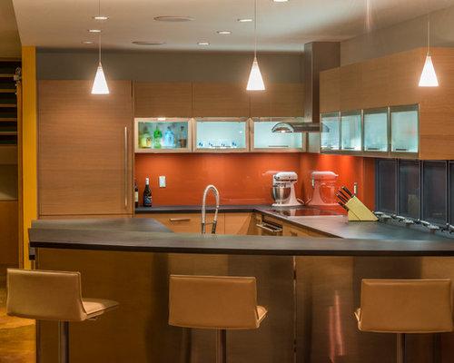 Cuisine avec une crédence orange Phoenix : Photos et idées ...
