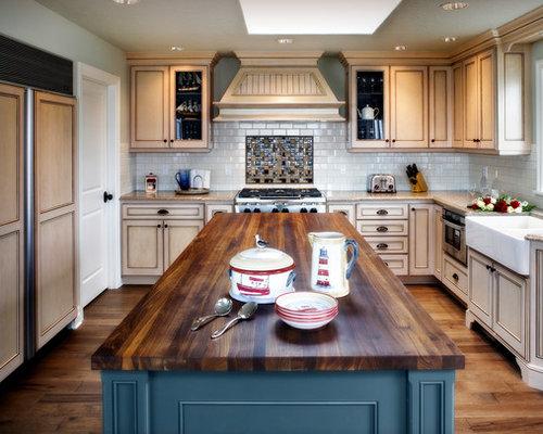 maritime k chen mit beigefarbenen schr nken ideen bilder houzz. Black Bedroom Furniture Sets. Home Design Ideas