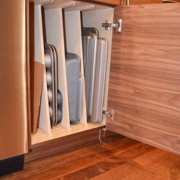Sheet pan and cookie sheet storage