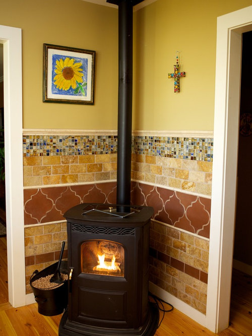 Corner Wood Stove Ideas Pictures Remodel And Decor