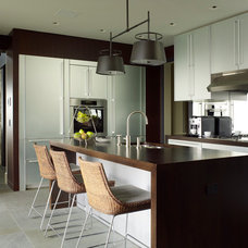 Transitional Kitchen by Brooks and Falotico Associates, Inc.