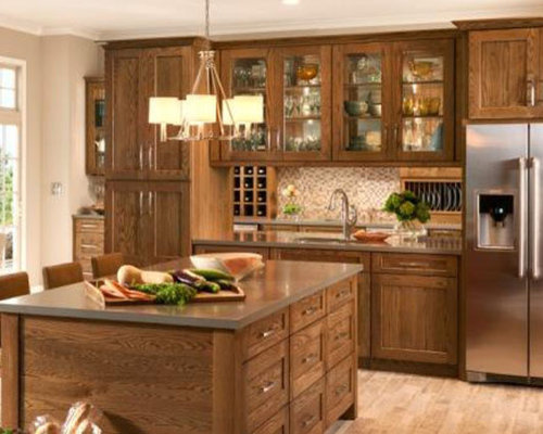 8,994 Mid-Sized L-Shaped Kitchen Design Ideas & Remodel Pictures with ...