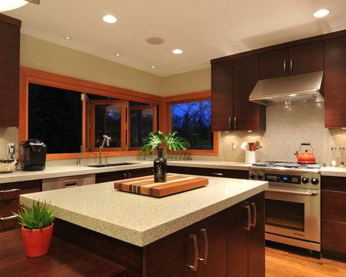 Eclipse allure mosaic backsplash houzz for Allure kitchen cabinets