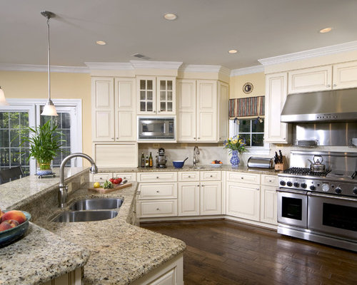 Cream cabinets with a taupe glaze kitchen design ideas amp remodel