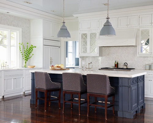 Inspiration For A Large Beach Style Kitchen Remodel In Jacksonville With Recessed Panel Cabinets