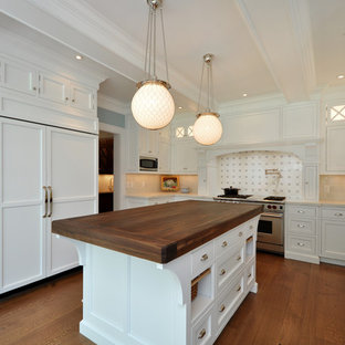 Kitchen - victorian kitchen idea in New York with marble countertops