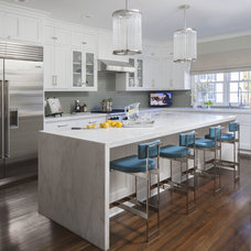 Transitional Kitchen by S. B. Long Interiors